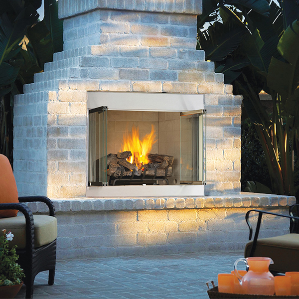 Astria Stainless Outdoor Fireplace at Orange County BBQ & Fireplace