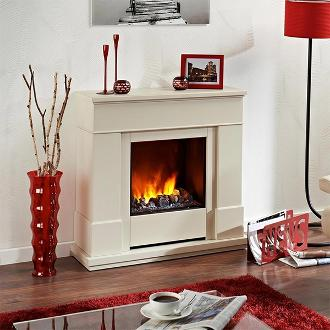Small white Dimplex fireplace