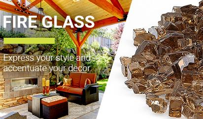 Fireglass (American Fire Glass) at Orange County BBQ & Fireplace