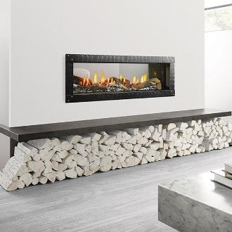 contemporary indoor fireplace