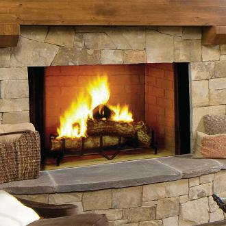 large indoor open fireplace