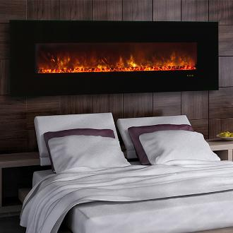 large contemporary bedroom fireplace