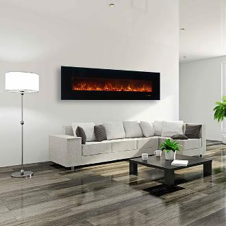 large contemporary indoor fireplace