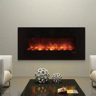medium indoor contemporary fireplace