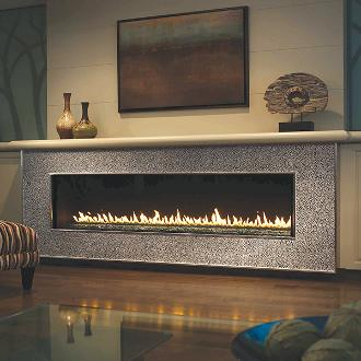 large long contemporary indoor fireplace