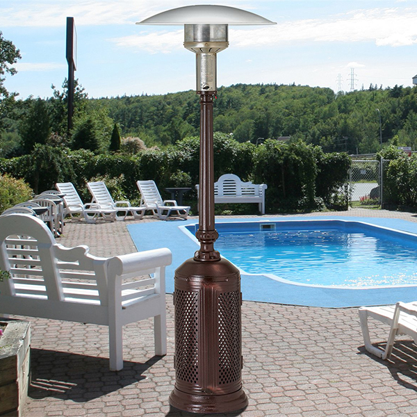 portable gas heater near pool