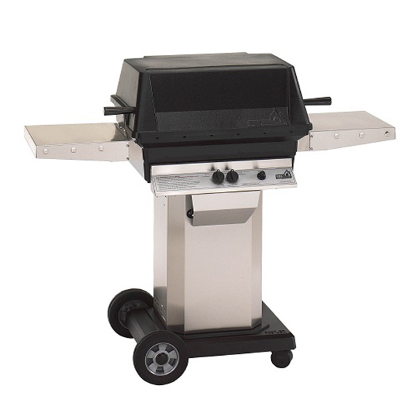 small bbq on wheeled base