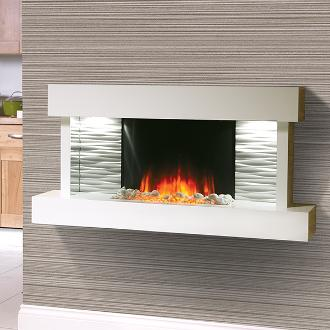 small modern fireplace