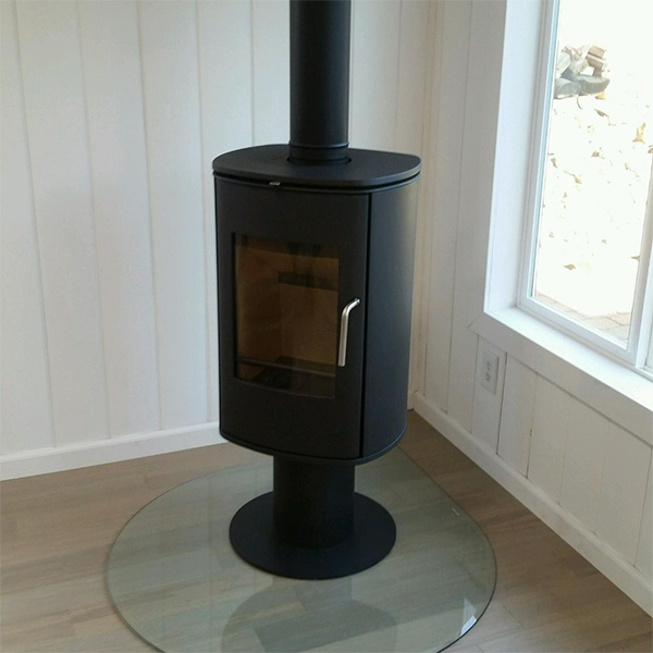 small contemporary wood burner